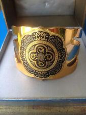 Vintage Bracelet par ALBERT FLAMAND PARIS Fladium Déposé / Cuff Bracelet