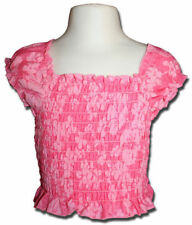 New PUMPKIN PATCH Size 1 Hot Pink Ruched Babydoll Top