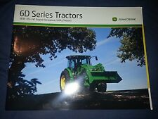"John Deere ""6D Series Tractors"" Catalog Brochure Leaflet"