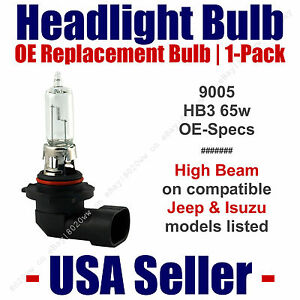 Headlight Bulb High Beam OE Replacement Fits Listed Jeep & Isuzu Models - 9005