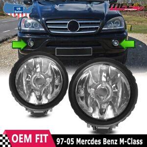 For Mercedes-Benz M-Class 97-05 Factory Bumper Replacement Fog Light Clear Lens