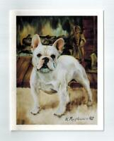 New White French Bulldog 6 Note Cards & 6 Envelopes Ruth Maystead Bulldogs FRB-2