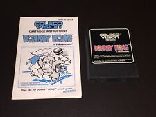 Donkey Kong w/Manual Coleco Vision Cleaned & Tested
