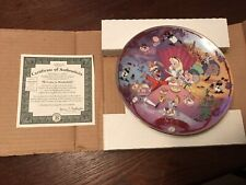 Bradford Exchange Alice In Wonderland Musical Collectors Plate Tea Party 1996