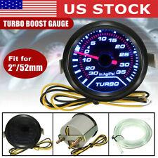 2 52mm Led Turbo Boost Press Pressure Vacuum Gauge Meter 35Psi Smoke Face Tint