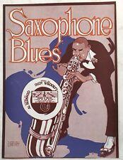1919 Vivid BLACK JAZZ AMERICANA sheet music SAXOPHONE BLUES publ. Pace & Handy