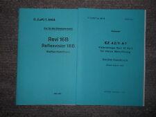 Dienstvorschrift Reflexvisier Revi 16B von 1942 & EZ42/1-A1 von 1944