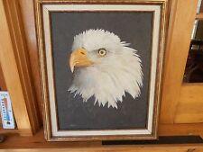 FANTASTIC Bald eagle Oil painting on Canvas Mark E. McCoy 1999 AWESOME DETAIL
