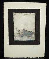 Engraving Modernist Signed Num 5/50 Art Modern Avant-Garde Artist Print c1960