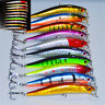 Lot 10 Pcs Kinds of Fishing Lures Crankbaits Hooks Minnow Baits Tackle Crank NEW