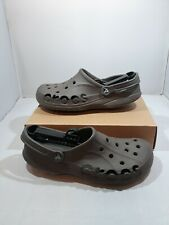 Crocs Men's Classic Original Clogs Brown Sling Back Sandals Comfort Shoes Sz 10