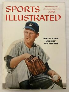 1956 Sports Illustrated NEW YORK Yankees WHITEY FORD NewsStand NO LABEL Rare