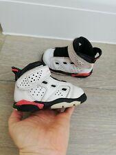 Rare NIKE AIR Jordan 6 TD Blancas e Infrarrojo Bebé Zapatillas UK 4 nos EU 4.5 C 20