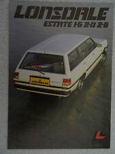 Lonsdale Estate brochure 1982/3. - 1.6, 2.0, 2.6 litre models.