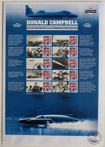 GB - 2015 RM Donald Campbell Smiler Stamp Sheet FDC (Limited Edition of 10)