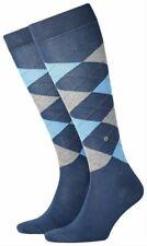 Burlington Mens Manchester Knee High Socks - Blue/Light Blue