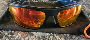 XL-Large Icicle BIG DADDY BAGGER ORANGE LENS sunglasses w Black Matte Diamond