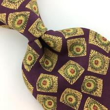 GORSART CLOTHES USA TIE GEOMETRIC Rays PURPLE Gold Silk Necktie Ties I7-568