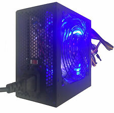 Blue LED 750-Watt Silent 120mm Fan 20/24pin ATX 4+4 12V Desktop PC Power Supply