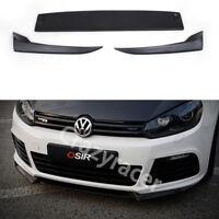 Unpainted Front Bumper Lip Aprons Spoiler for VW Golf 6 VI MK6 R20 O Style