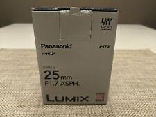 Panasonic Lumix G 25mm F1.7 ASPH HH025EK MFT Lens - Black