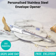 Personalised Engraved Stainless Steel Silver Chrome Letter Opener - Gift