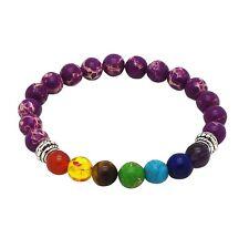 Chakra Bracelet PURPLE with 7 Gemstones By ZILA COMPANY, Crystal Reiki Healing