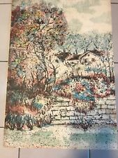 Original Jean Picart le Doux Landscape Lithograph Signed And Numbered