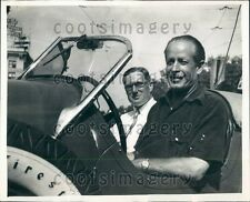 1938 Auto Racing Drivers Capt G Eyston & Ab Jenkins Press Photo