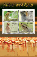 Liberia-2016 West Africa Birds on Stamps Sheet of 4 MNH