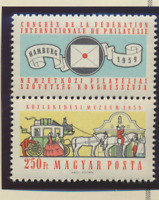 Hungary Stamp Scott #1231, Mint Never Hinged, Stamp & Label