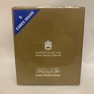 Authentic Solid Musk Cubes 6 Pieces by Abdul Samad Al Qurashi FREE shipping