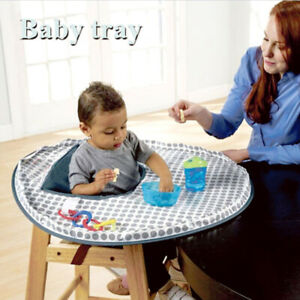 Baby Eating Table Mat Baby Feeding Saucer High Chair Cover For kids Highchair AU