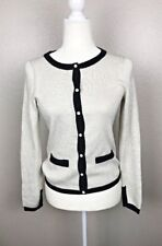 A New Day Womens Cream Gold Pearl Button Long Sleeve Cardigan, Size L NWT