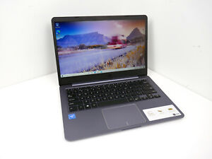 "Light Thin Laptop ASUS E 14"" 64GB Intel N3060 1.60GHz 4GB RAM Wi-Fi Windows 10"