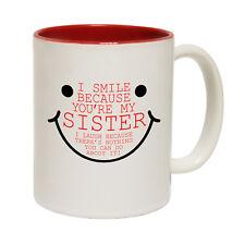 Fishing Mugs 123t I Smile Because Your My Sister Family MUG