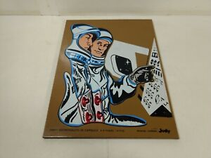 Vintage Judy Company Astronauts In Capsule 13 Piece Wooden Puzzle t6031S