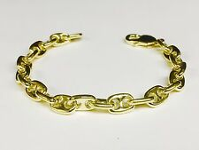 14 Kt solid Yellow Gold Anchor Mariner chain/Bracelet 8 MM 38 Grams 9""