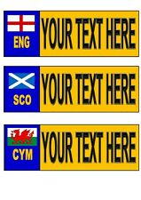 More details for personalised number plate novelty fun england scotland welsh number plate sign