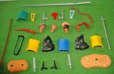28 x TIMPO,54mm scale, SWOPPET weapons & parts - saddles,swords,spears,heads etc