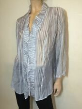 Nylon Button Down Shirt Hand-wash Only Striped Tops & Blouses for Women