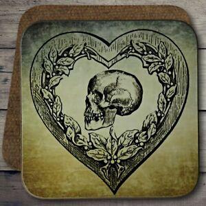 Gothic Horror Skull Coaster, Gothic Skull Coaster, Skull Coaster, Gothic Horror.