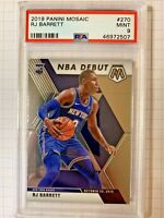RJ Barrett 2019 Panini Mosaic #270 Rookie Debut PSA 9 Mint Knicks