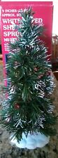 LEMAX Fiber Optic Tree 9 Inch Shimmering Spruce Multi Color Christmas
