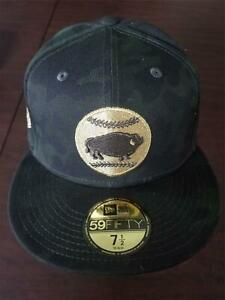 New Era Cap Buffalo Bisons 59Fifty 7 1/2 camo armed forces military patch NEW