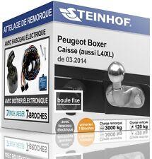 ATTELAGE PEUGEOT BOXER Caisse de 2014+FAISC.UNIV. 7broches