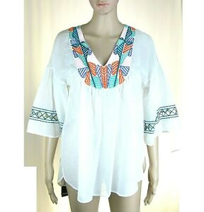 Blusa Camicia Donna Casacca Leggera Top PINKO Misto Seta I947 Bianco Tg S M