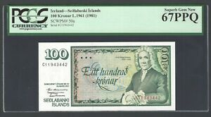 Iceland 100 Kronur L1961(1981) P50a Uncirculated Graded 67