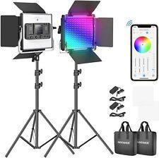 Neewer RGB Led Video Light with APP Control 660 PRO Video Lighting Kit CRI 97+