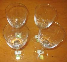 Marquis Waterford Crystal Eternty Goblet Set of 4 in box- UNUSED Gold rim 1992